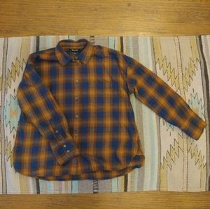 Madewell plaid button down flannel, size small